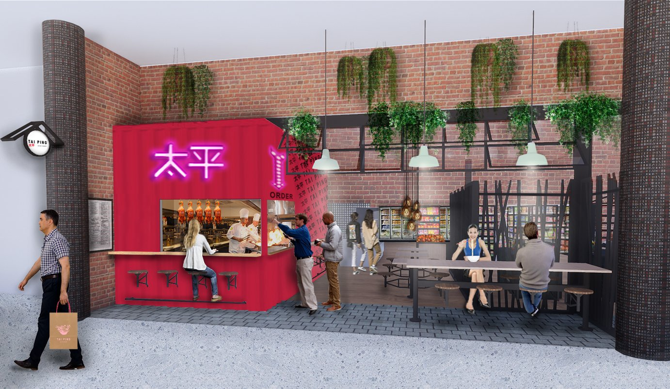 Tai Ping Kitchen Area Render Red Container